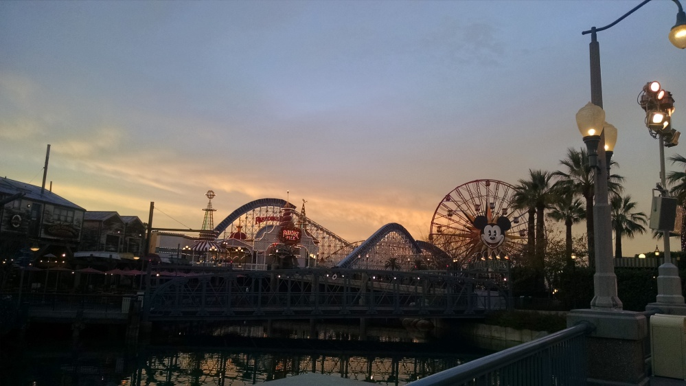 Paradise Pier at Sunrise